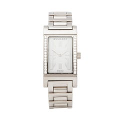 2000's Bulgari Rettangolo White Gold RT W39 G Wristwatch
