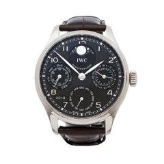 2012 IWC Pilot's Perpetual Calendar White Gold IW502307 Wristwatch
