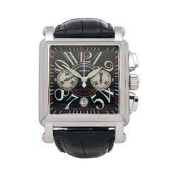 2000's Franck Muller Conquistador Cortez Stainless Steel 1000 K CC Wristwatch