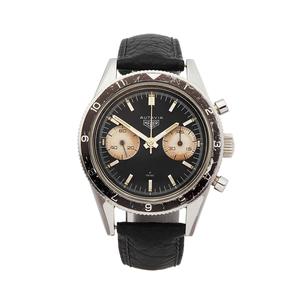 1968 Heuer Autavia Stainless Steel 3646 Wristwatch