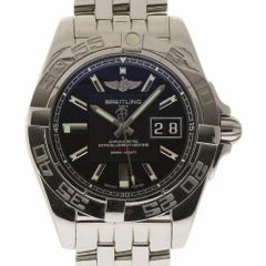 Breitling Galactic A49350 Stainless Steel Automatic Black 2 Year Warranty #1540