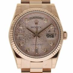 Rolex New Day-Date President 118235 Rose Gold 2018 Box/Paper/Warranty #RL317