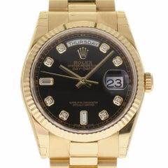 Rolex New Day-Date President 118238 Gold Diamond Box/Paper/Warranty #RL319