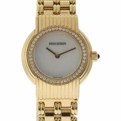 Boucheron Reflet France LU53032140783 18 Karat Yellow Gold Diamond Warranty #813