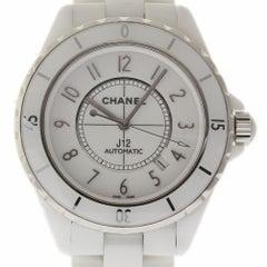 Chanel J12 H2981 Automatic White Ceramic Bracelet Box/2 Year Warranty #I1066