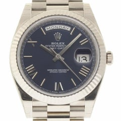 Rolex New Day-Date 228239 18 Karat White Gold Blue Box/Paper/5 Year Warranty