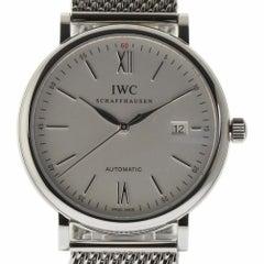 IWC New IW356505 Portofino Automatic Silver Steel Box/Paper/Warranty #IW13