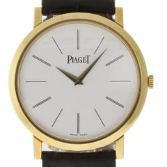Piaget Altiplano P10175 Large Gold Brown Leather Box/Paper/2 Year Warranty #1504