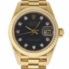 Rolex President Datejust 69178 Gold Factory Blue Diamond 2 Year Warranty #I1490