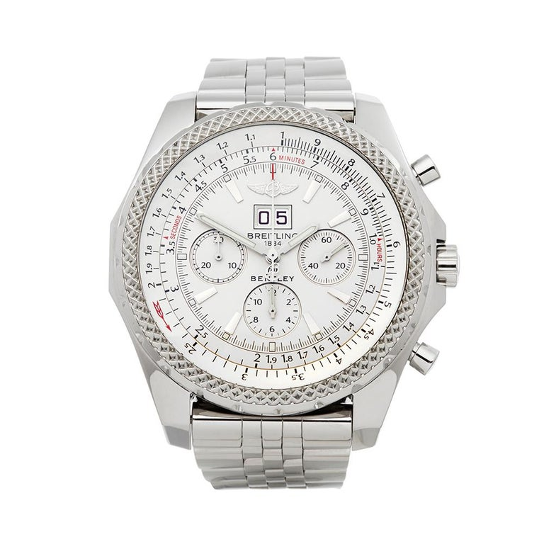 Breitling Bentley Gmt Wristwatches: 2007 Breitling Bentley Stainless Steel A4436212/G573