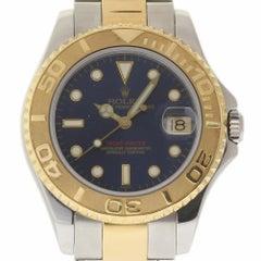 Rolex Yacht-Master 68623 Steel Yellow Gold Blue Dial 1999 2 Year Warranty #851