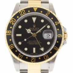 Rolex GMT Master II 16713 Steel Yellow Gold Box/Paper/2 Years Warranty #1630