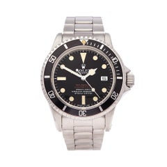 1973 Rolex Sea-Dweller Double Red Stainless Steel 1665 Wristwatch