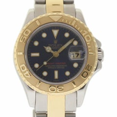 Rolex Yacht-Master 69623 Ladies Steel Gold Blue Dial 1999 2 Year Warranty #168