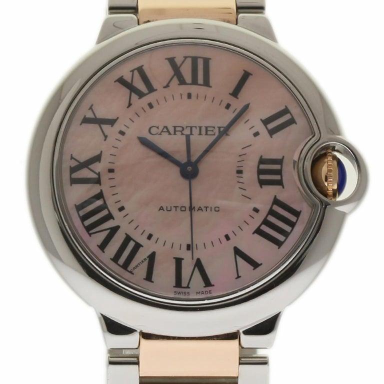 Cartier Ballon Bleu 36mm W6920033 MOP Steel Gold  For Sale