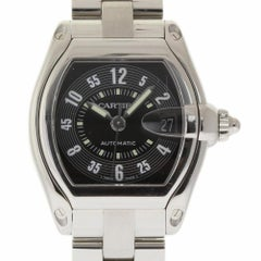 Cartier Roadster W62004V3 Large Automatic Stainless Steel Black 2 Year Warranty