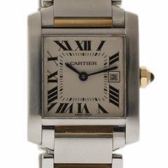 Cartier Tank Francaise W51012Q4 Ladies Quartz Steel Gold 2 Year Warranty #1361