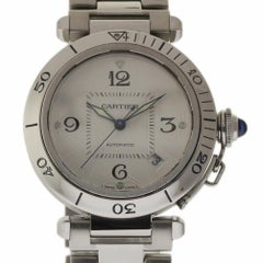 Cartier Pasha Automatic W31059H3 Automatic Steel Silver 2 Year Warranty #336
