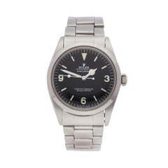 1975 Rolex Explorer I Stainless Steel 1016 Wristwatch