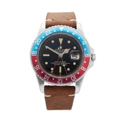 1961 Rolex GMT-Master Stainless Steel 1675 Wristwatch