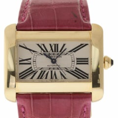 Cartier Tank Divan W6300856 Large Automatic Yellow Gold 2 Year Warranty #1551