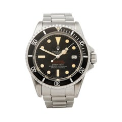 1978 Rolex Sea-Dweller Double Red MKIV Stainless Steel 1665 Wristwatch