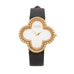 2010's Van Cleef & Arpels Alhambra Yellow Gold HH940 Wristwatch