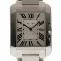 Cartier New Tank Anglaise W5310008 Stainless Automatic Box/Paper/Warranty #CA36