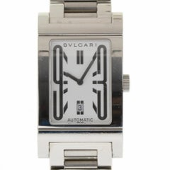 Bvlgari RT45S Rettangolo Stainless Steel Silver Automatic 2 Year Warranty #562