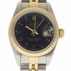 Rolex Datejust 69173 Steel Yellow Gold Blue Jubilee 1993 2 Year Warranty #654
