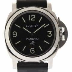 Panerai Luminor Base Logo PAM00000 Steel Black Rubber Paper/Warranty #1507