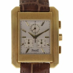 Piaget Protocol 14600 Chronograph Yellow Gold Leather 2 Year Warranty #188-1