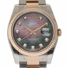 Rolex New Datejust 36mm 116231 Steel Gold MOP Diamond