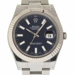 Rolex New Datejust II 116334 Steel and White Gold Bezel Blue Stick 2016 #RL60