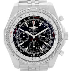 Breitling Bentley Motors Black Dial Chronograph Men's Watch A25362