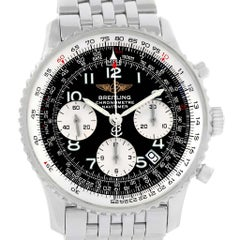 Breitling Navitimer Black Arabic Dial Steel Men's Watch A23322