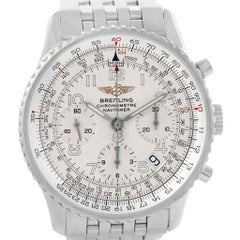 Breitling Navitimer Silver Arabic Dial Men's Watch A23322 Box Papers