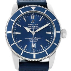 Breitling Superocean Heritage 46 Blue Dial Rubber Strap Watch A17320