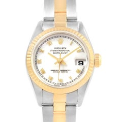 Rolex Datejust 26 Steel Yellow Gold White Roman Dial Ladies Watch 69173