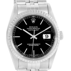 Rolex Datejust Black Dial Automatic Steel Men's Watch 16220