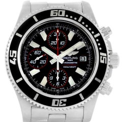 Breitling Aeromarine SuperOcean II Black Red Dial Watch A13341