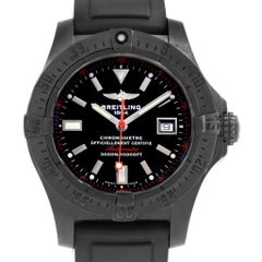 Breitling Avenger Seawolf Code Red Blacksteel LE Watch M17330 Box Papers