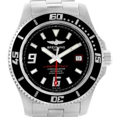 Breitling Aeromarine Superocean 44 Red Hand Watch A17391 Box