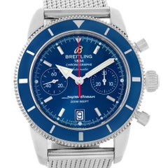 Breitling SuperOcean Heritage 44 Blue Dial Chronograph Watch A23370