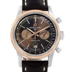 Breitling Transocean 38 Steel Rose Gold Diamond Men's Watch U41310