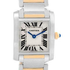 Cartier Tank Francaise Steel Yellow Gold Silver Dial Ladies Watch W51007Q4