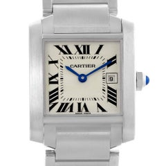 Cartier Tank Francaise Midsize Steel Women's Watch W51011Q3