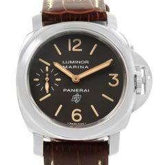 Panerai Luminor Acciaio Logo Tropical Brown Dial Watch PAM00632