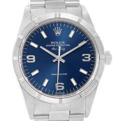 Rolex Air King 34 Blue Dial Oyster Bracelet Steel Men's Watch 14010