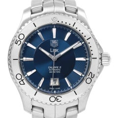 TAG Heuer Link Steel Blue Dial Automatic Men's Watch WJ201C Box Card